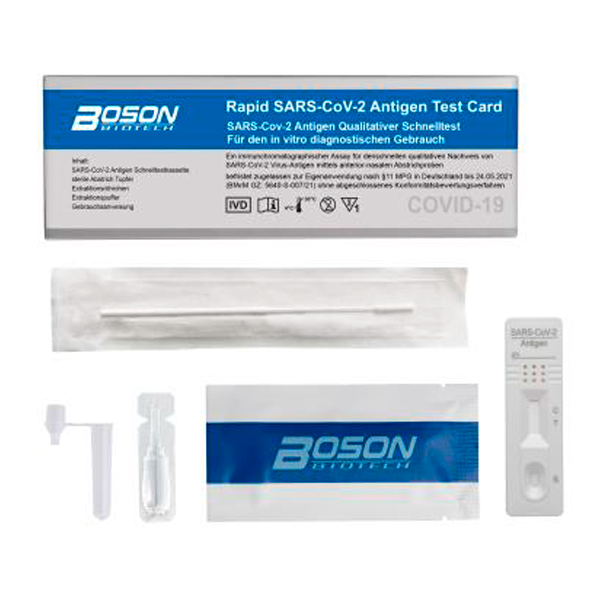 Antigen Selbsttest Boson COVID-19 (1VE=1 Stück)